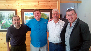 Dr. Forest W. Redding, Jr., Elam & Nic Stoltzfus; documentary filmmakers with Live Oak Production Group and Peter R. Gerbert