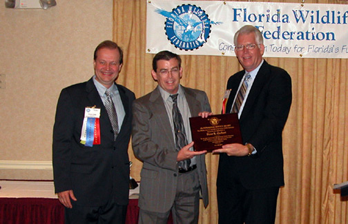 Peter G received an unexpected, special award from the Florida Wildlife Federation at their 70th Annual Conservation Awards Banquet & Benefit on the evening of June 23rd, 2007.